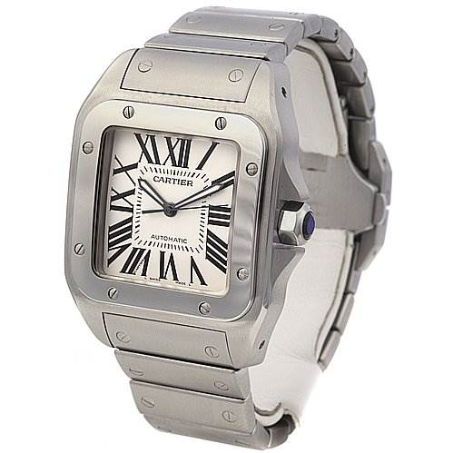 2329 Cartier Santos 100 Ss Large Automatic Watch 2656 SwissWatchExpo