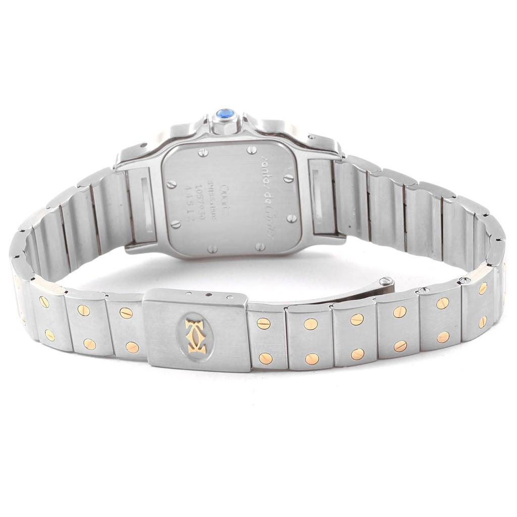 20384 Cartier Santos Galbee Large Steel 18K Yellow Gold Quartz Watch 1057930 SwissWatchExpo