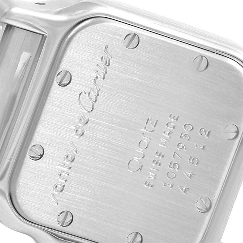 Cartier Santos Galbee Large Steel 18K Yellow Gold Quartz Watch 1057930 SwissWatchExpo