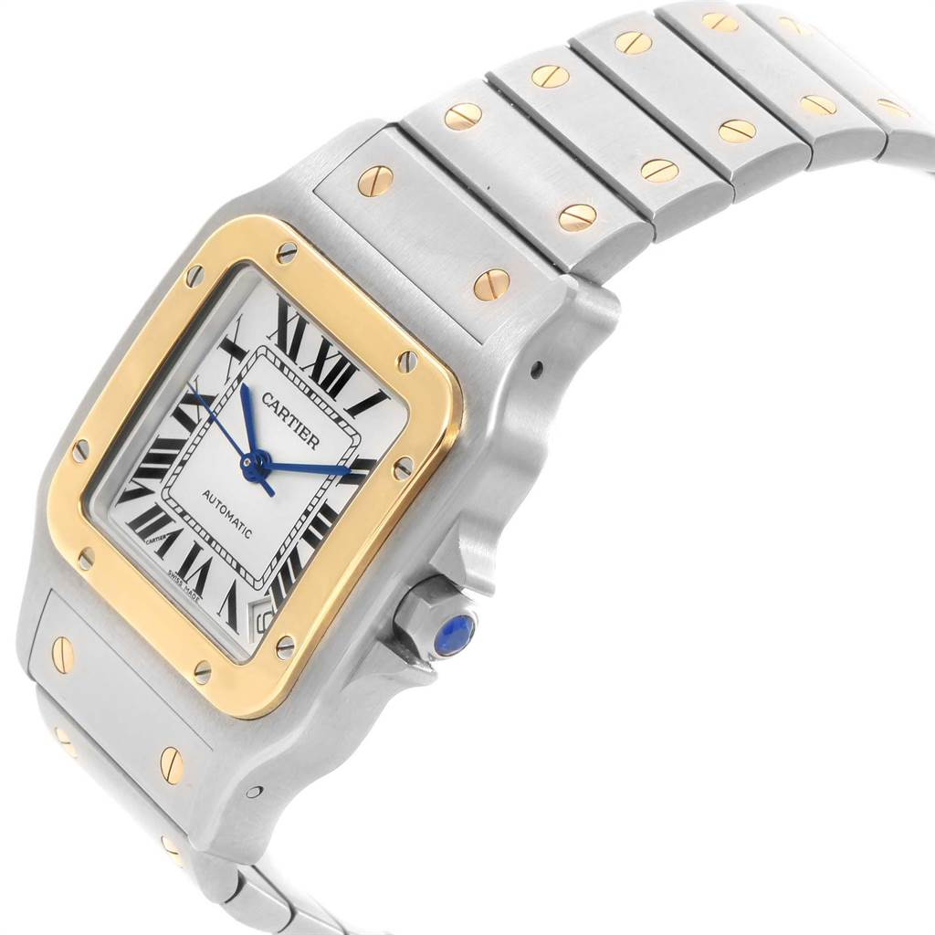 21609 Cartier Santos Galbee XL Steel Yellow Gold Mens Watch W20099C4 SwissWatchExpo