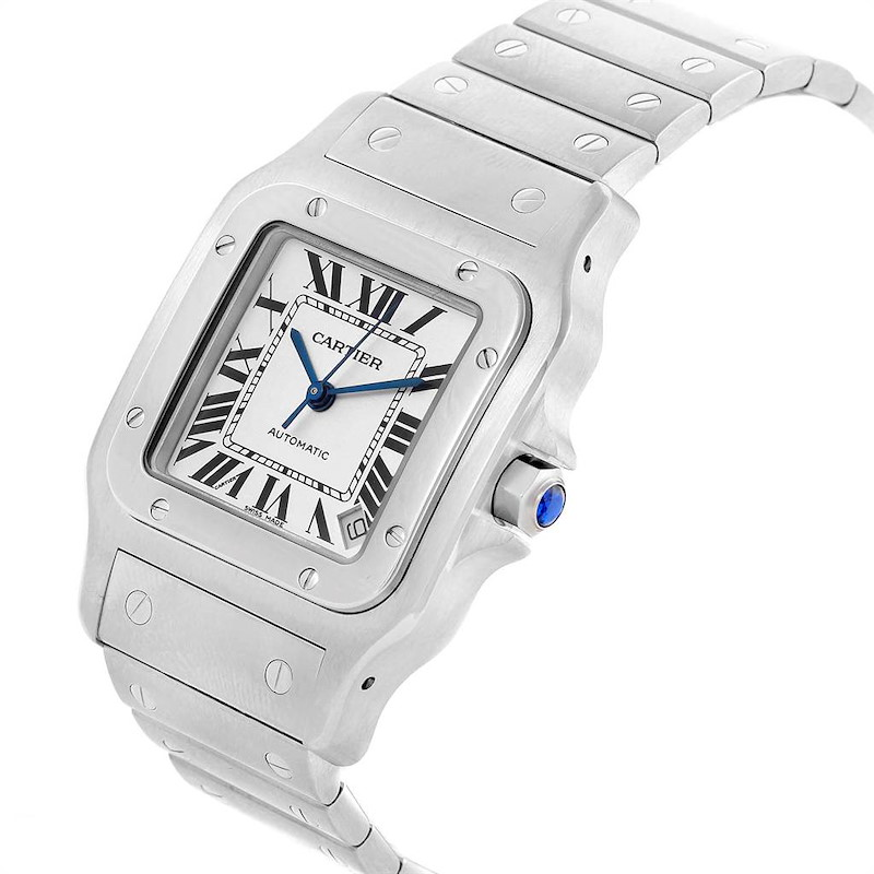 Cartier Santos Galbee XL Steel Mens Watch W20098D6 Box Papers SwissWatchExpo