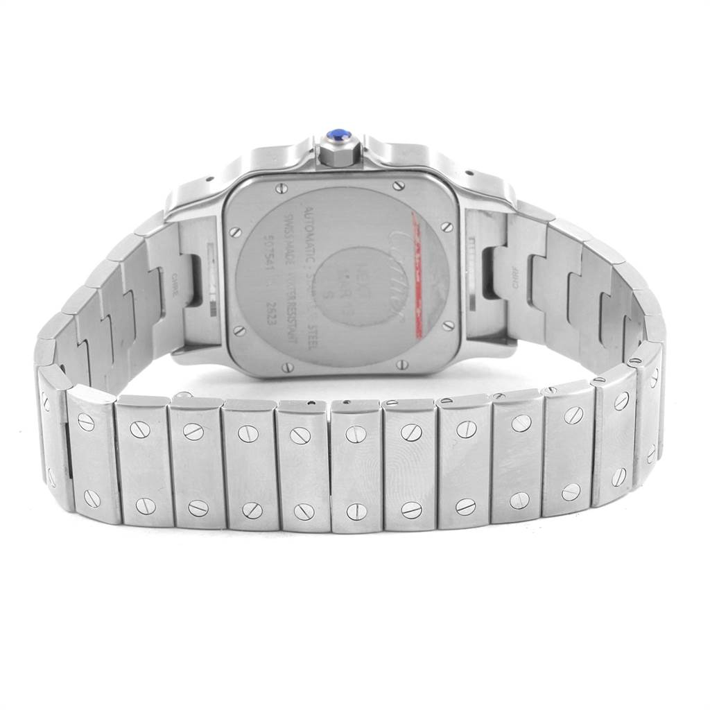 21716 Cartier Santos Galbee XL Steel Mens Watch W20098D6 Box Papers SwissWatchExpo