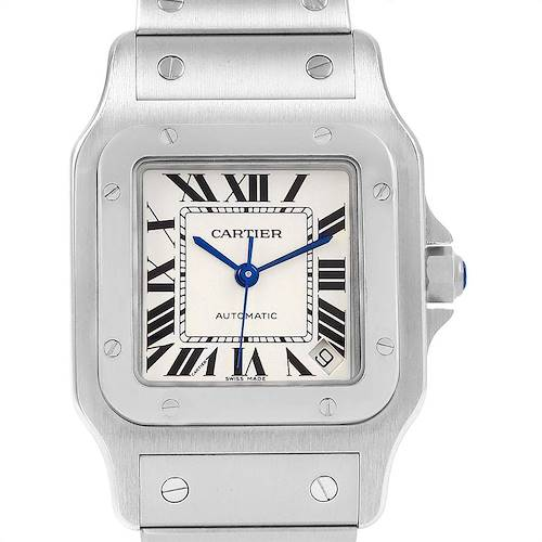 Photo of Cartier Santos Galbee XL Steel Mens Watch W20098D6 Box Papers