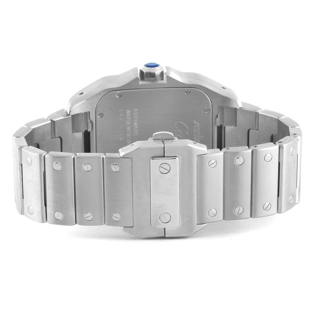 Cartier Santos 100 Automatic Large Steel Mens Watch W200737G SwissWatchExpo