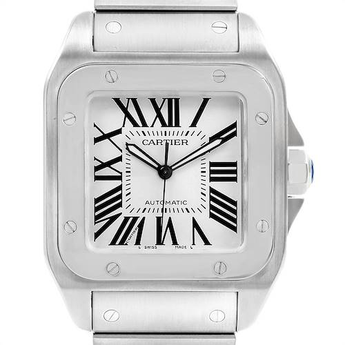 Photo of Cartier Santos 100 Automatic Large Steel Mens Watch W200737G