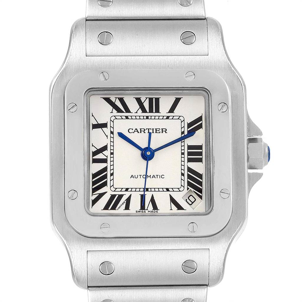 21421 Cartier Santos Galbee XL Steel Mens Watch W20098D6 SwissWatchExpo