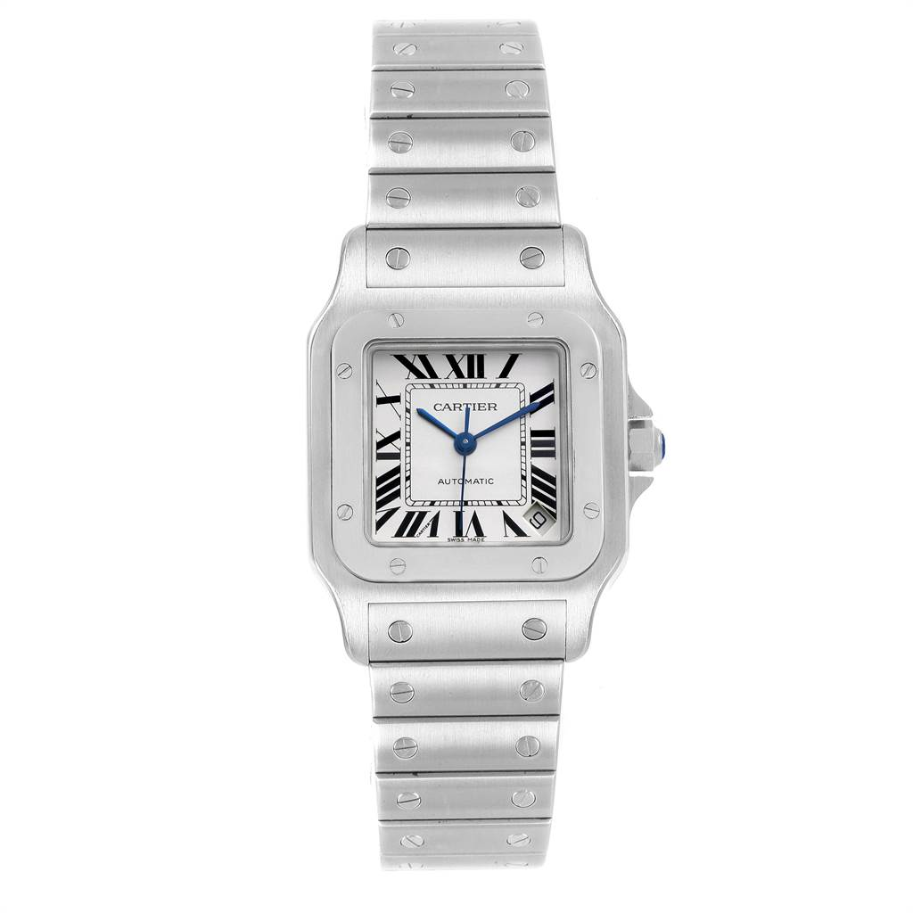 21776 Cartier Santos Galbee XL Automatic Steel Mens Watch W20098D6 SwissWatchExpo