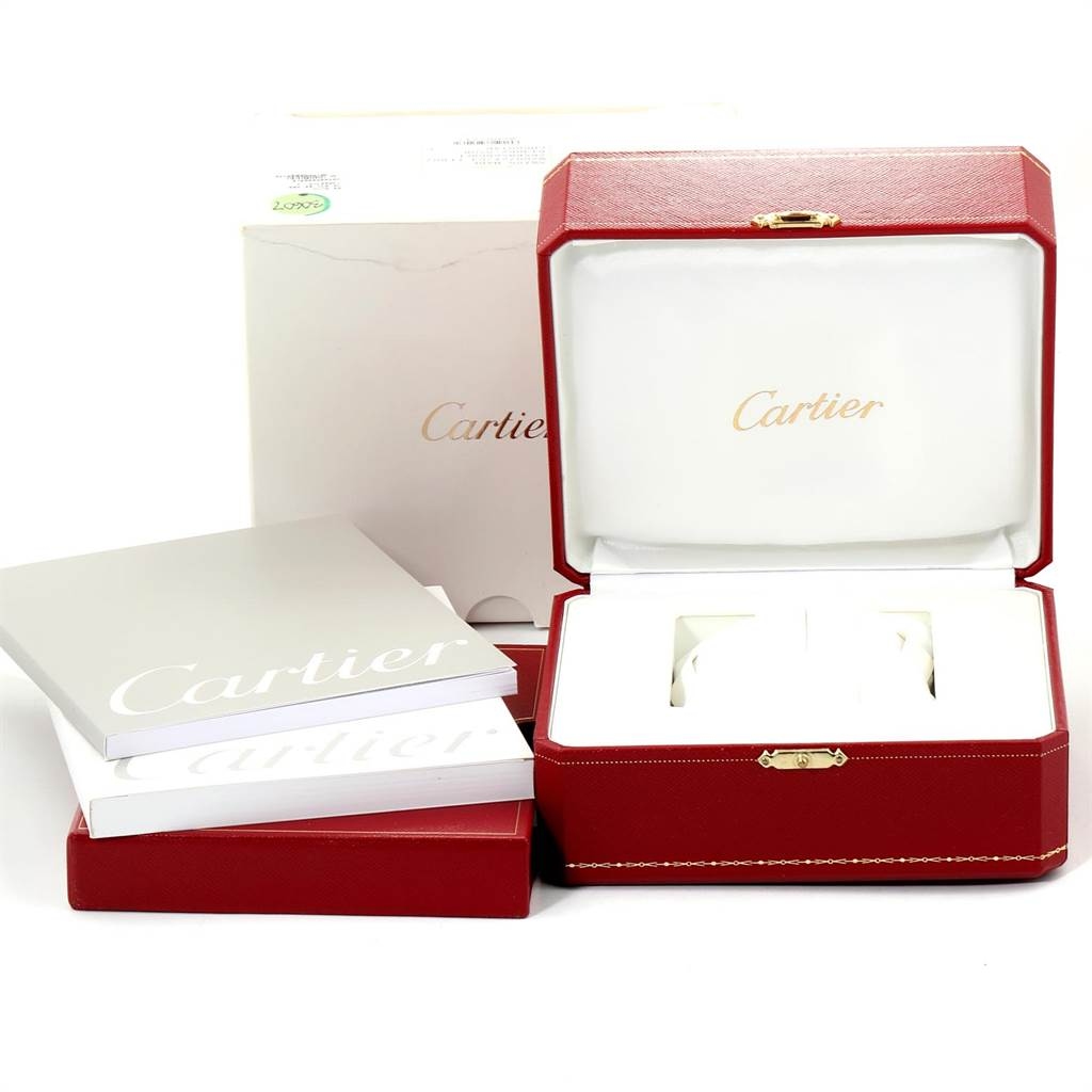 Cartier Santos 100 Steel Yellow Gold 38mm Mens Watch W20072X7 Box Papers SwissWatchExpo