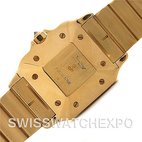 881IL Cartier Santos Vintage 18k y Gold Diamond Automatic Watch SwissWatchExpo