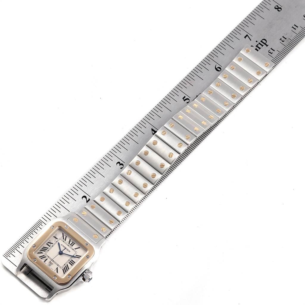 23570 Cartier Santos Galbee Large Steel Yellow Gold Unisex Watch W20011C4 SwissWatchExpo