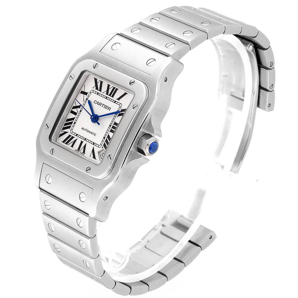 Cartier Santos Galbee XL Automatic Steel Unisex Watch W20098D6 SwissWatchExpo