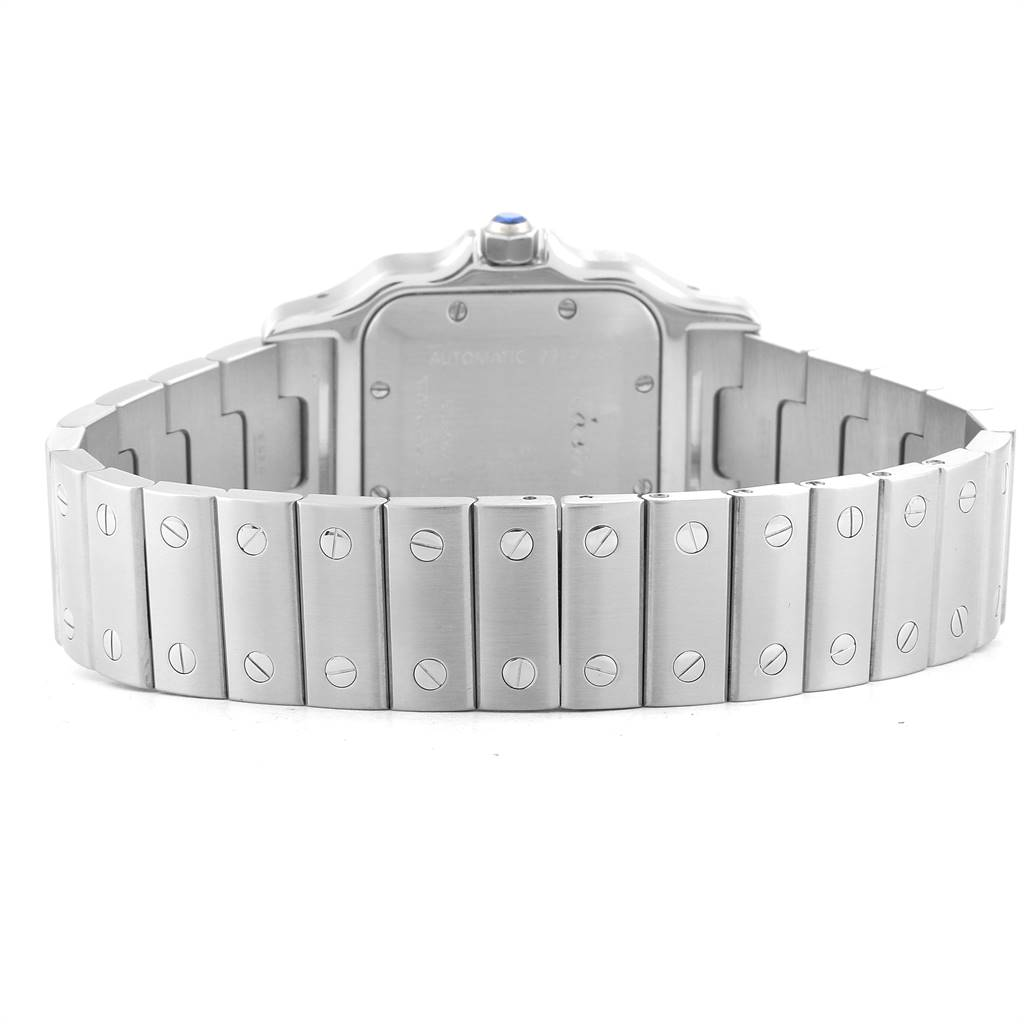 24726 Cartier Santos Galbee Silver Dial Automatic Steel Mens Watch W20055D6 SwissWatchExpo