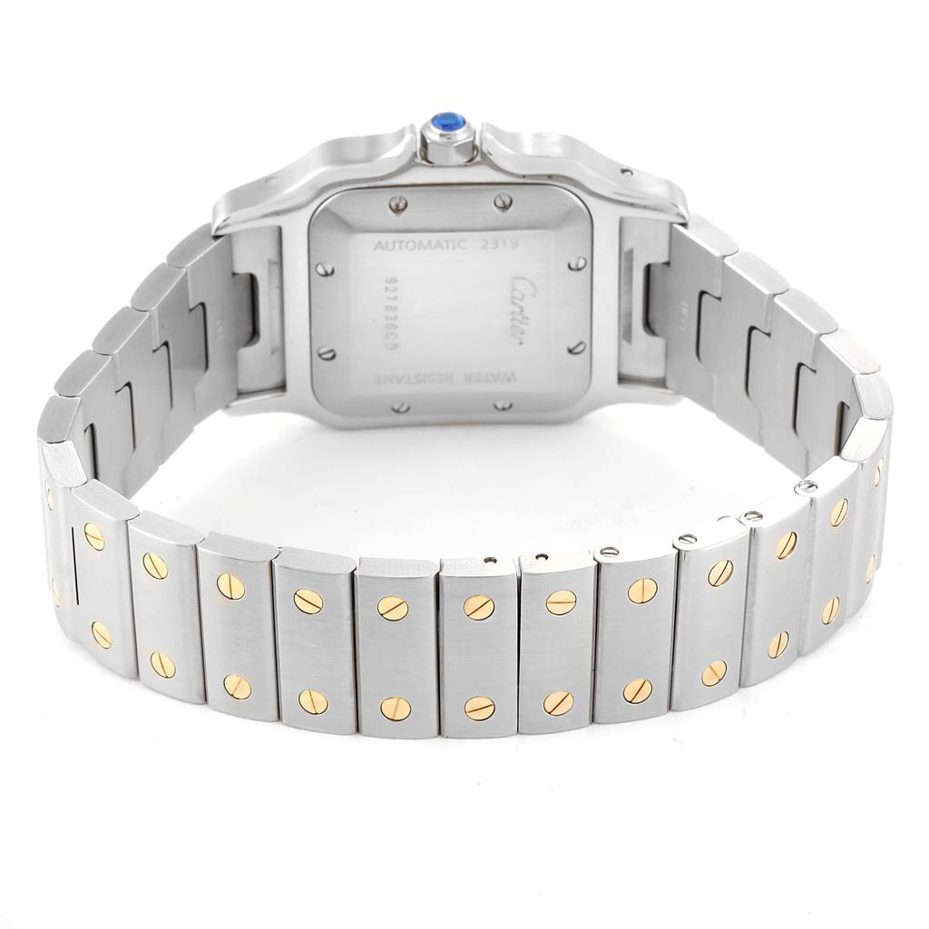 Cartier Santos Galbee Steel Yellow Gold Mens Watch W20058C4 Box SwissWatchExpo