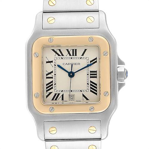 Photo of Cartier Santos Galbee 29mm Steel Yellow Gold Mens Watch 187901 Box Papers