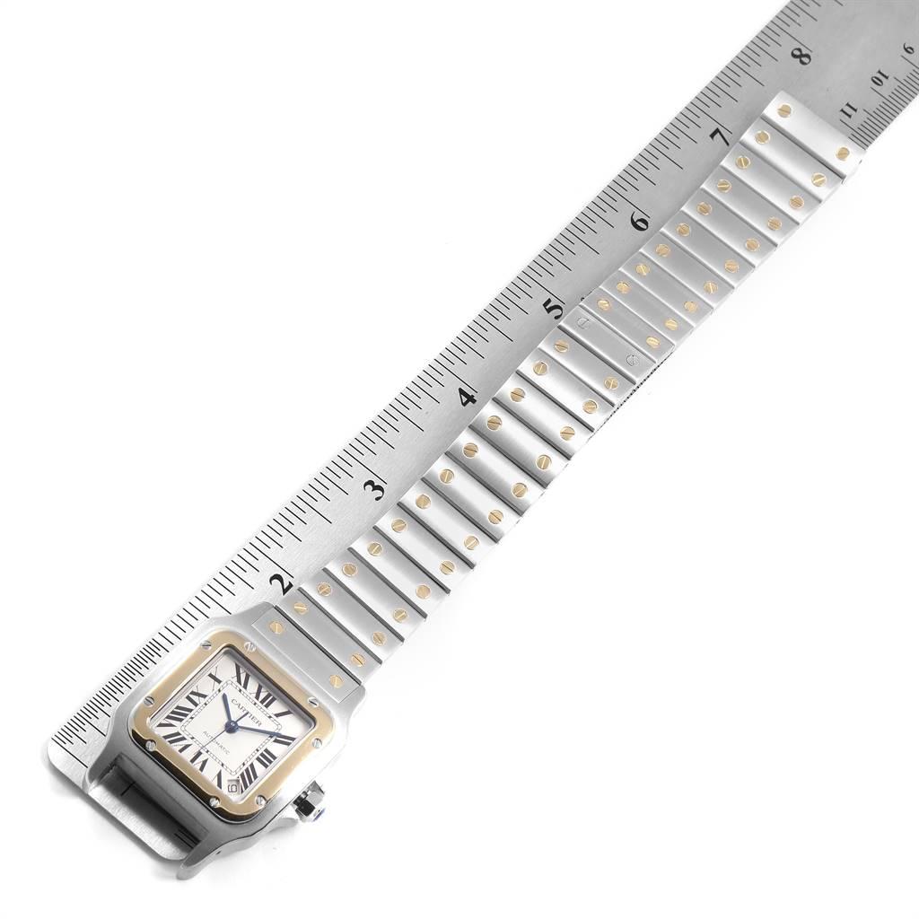 Cartier Santos Galbee XL Steel Yellow Gold Mens Watch W20099C4 SwissWatchExpo