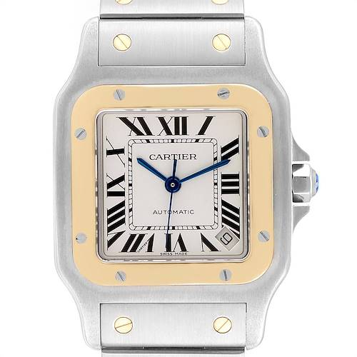 Photo of Cartier Santos Galbee XL Steel Yellow Gold Mens Watch W20099C4