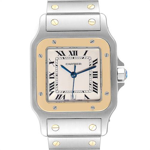 Photo of Cartier Santos Galbee Large Steel Yellow Gold Unisex Watch W20011C4