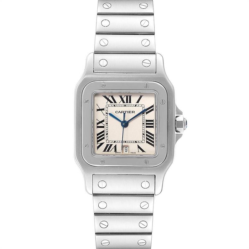 Cartier Santos Galbee Stainless Steel Mens Watch W20060D6 SwissWatchExpo