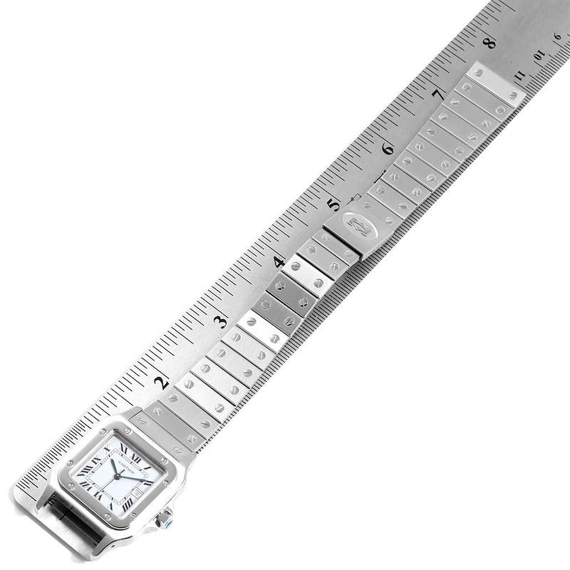 Cartier Santos Galbee Silver Dial Automatic Steel Mens Watch SwissWatchExpo