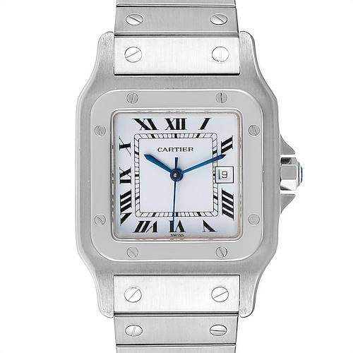 Photo of Cartier Santos Galbee Silver Dial Automatic Steel Mens Watch