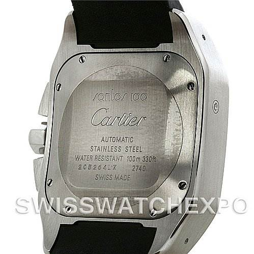 2767 Cartier Santos 100 X-Large Chronograph Watch W20090X8 SwissWatchExpo