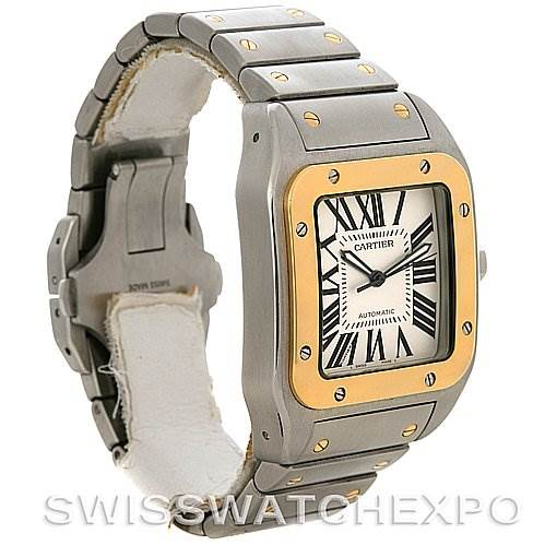2789 Cartier Santos 100 X-Large Steel & Gold Watch W200728G SwissWatchExpo