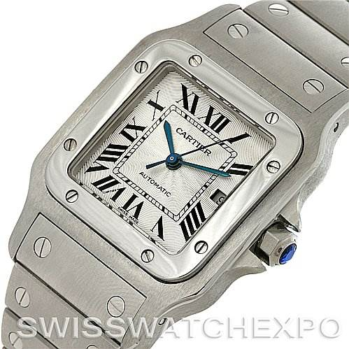 4068 Cartier Santos Galbee Large Automatic Steel W20055D6 Watch SwissWatchExpo