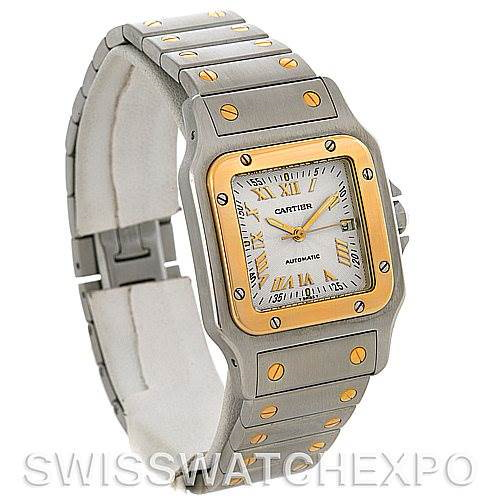 Cartier Santos Galbee Large Steel and 18K yellow Gold Automatic Watch W20058C4 SwissWatchExpo