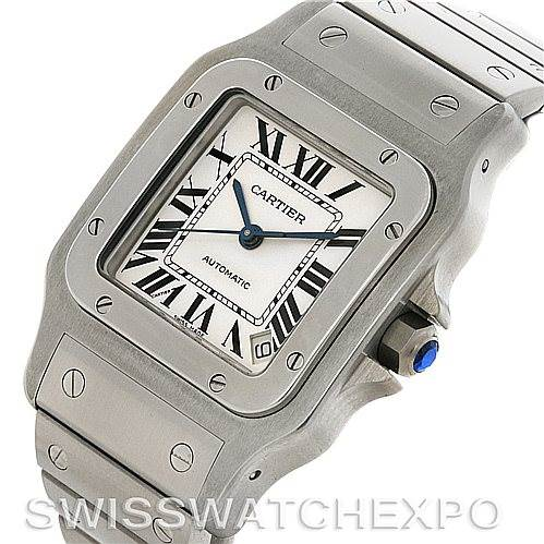 4430 Cartier Santos Galbee XL Steel Mens Watch W20098D6 SwissWatchExpo