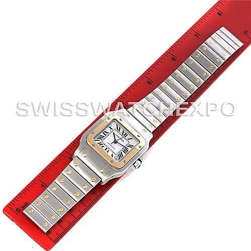 Cartier Santos Galbee XL Steel and 18K Yellow Gold Mens Watch W20099C4 SwissWatchExpo
