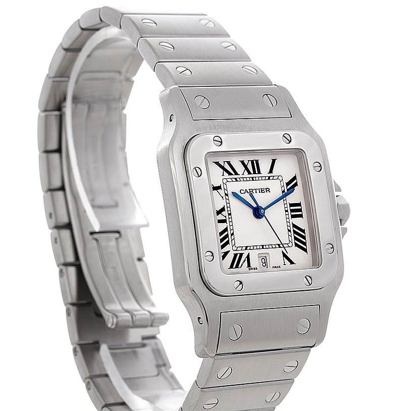 4578 Cartier Santos Galbee Men's Quartz Steel Watch W20060D6 SwissWatchExpo