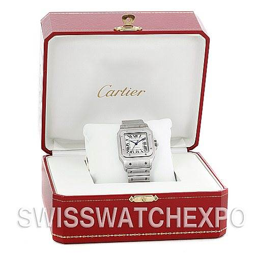 4872 Cartier Santos Galbee XL Steel Mens Watch W20098D6 NOS SwissWatchExpo