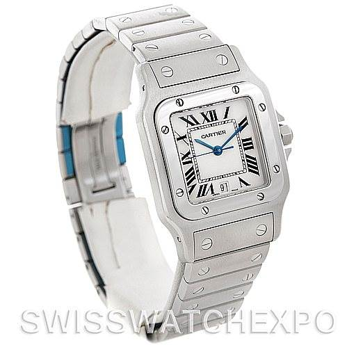 4866 Cartier Santos Galbee Men's Quartz Steel Watch W20060D6 NOS SwissWatchExpo