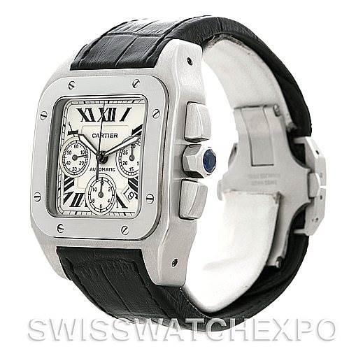 5141 Cartier Santos 100 X-Large Chronograph Watch W20090X8 SwissWatchExpo