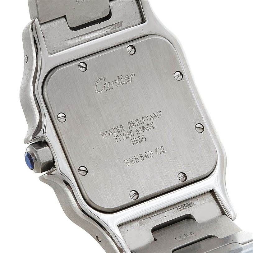 5365 Cartier Santos Galbee Men's Quartz Steel Watch W20060D6 SwissWatchExpo