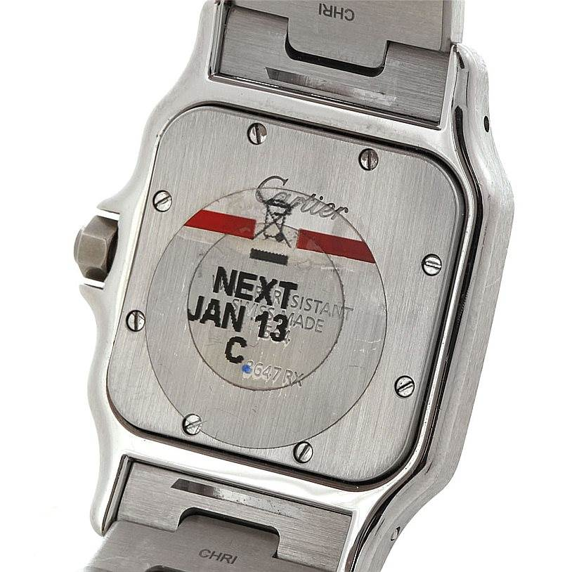 5440 Cartier Santos Galbee Mens Quartz Steel Watch W20060D6  SwissWatchExpo