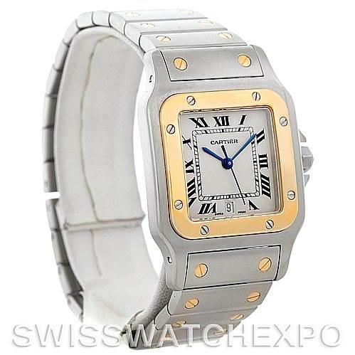 5313 Cartier Santos Large Steel 18K Yellow Gold Watch W20011C4 SwissWatchExpo