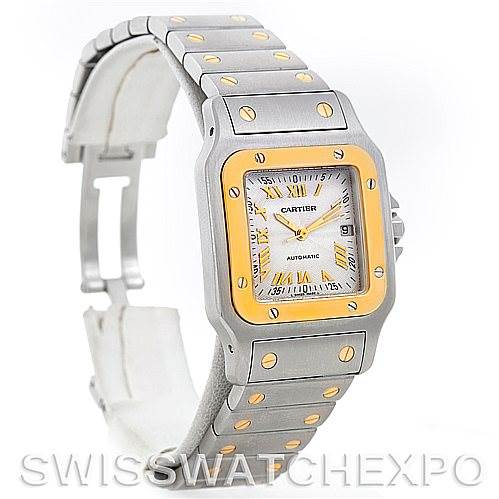 5053 Cartier Santos Galbee Large Steel 18K Yellow Gold Automatic Watch W20058C4 SwissWatchExpo