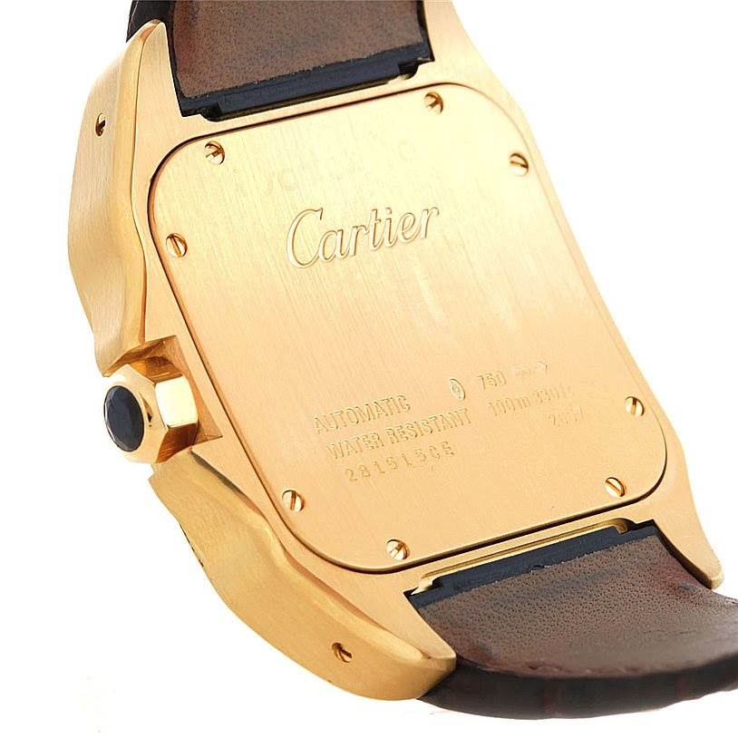 5524 Cartier Santos 100 XL 18K Yellow Gold Watch W20071Y1 SwissWatchExpo