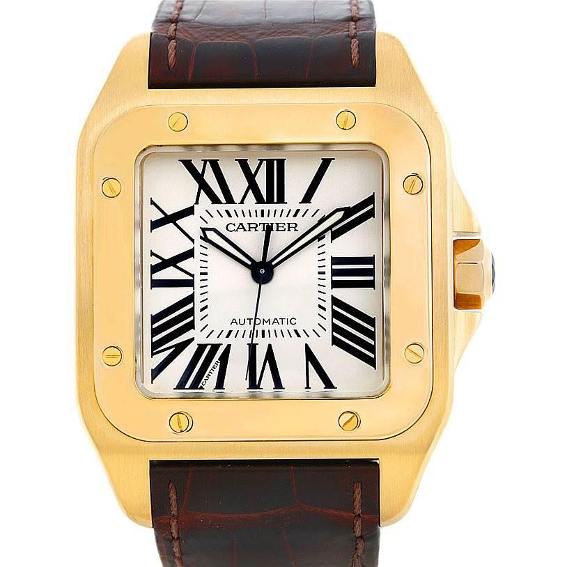 314a257971f7d Cartier Santos 100 XL 18K Yellow Gold Watch W20071Y1