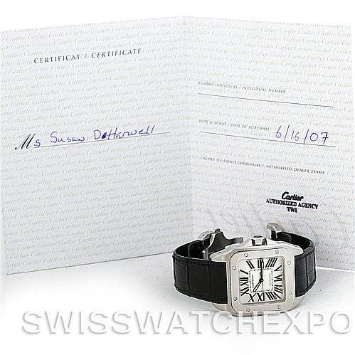 Cartier Santos 100 Steel Automatic XL Mens Watch W20073X8 SwissWatchExpo
