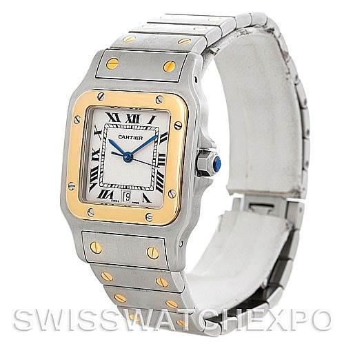 5783 Cartier Santos Large Steel 18K Yellow Gold Watch W20011C4 SwissWatchExpo