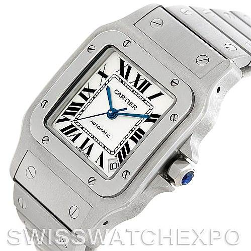 5825 Cartier Santos Galbee XL Steel Mens Watch W20098D6 SwissWatchExpo