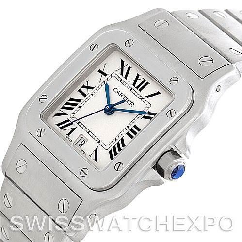 5941 Cartier Santos Galbee Mens Quartz Steel Watch W20060D6 SwissWatchExpo
