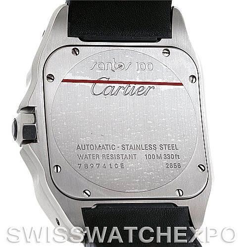 6034 Cartier Santos 100 Steel Automatic XL Mens Watch W20073X8 SwissWatchExpo