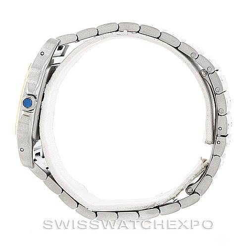 6544 Cartier Santos Large Steel 18K Yellow Gold Watch W20011C4 SwissWatchExpo
