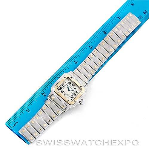 6544 Cartier Santos Large Steel 18K Yellow Gold Watch W20011C4 SwissWatchExpo