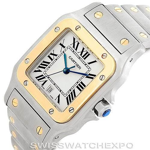 6550 Cartier Santos Large Steel 18K Yellow Gold Watch W20011C4 SwissWatchExpo
