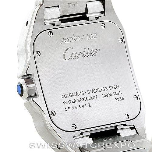 Cartier Santos 100 Large Steel Mens Watch W200737G SwissWatchExpo