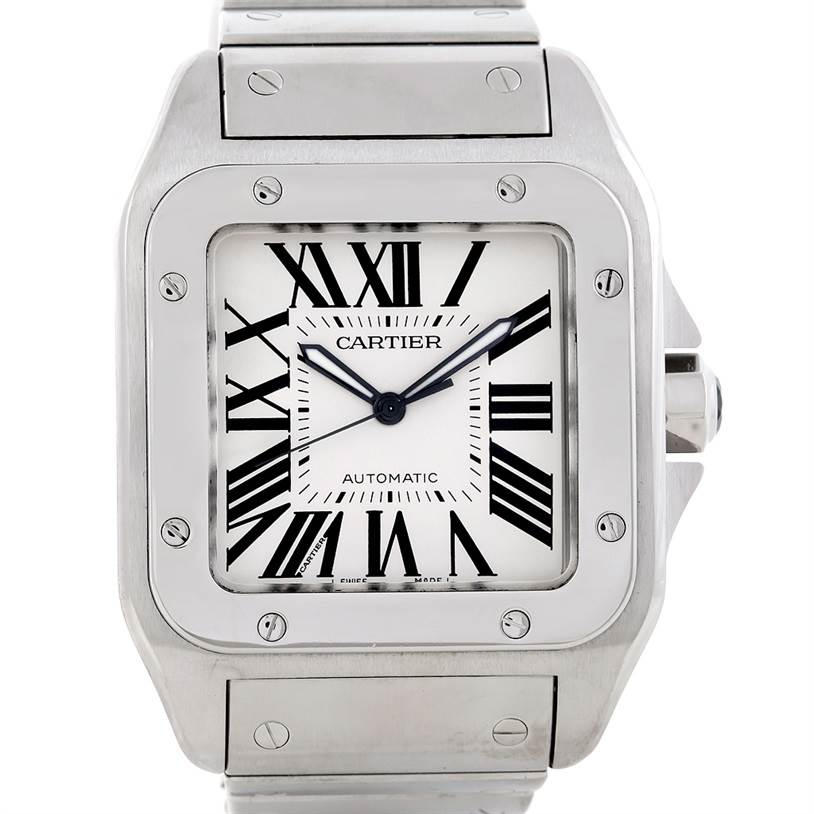 6620 Cartier Santos 100 Large Steel Mens Watch W200737G SwissWatchExpo